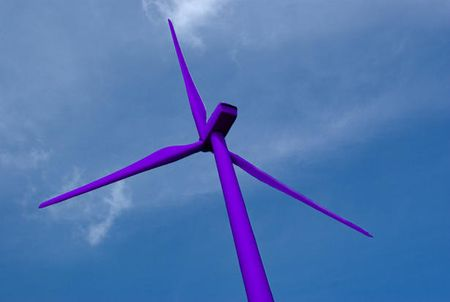 Purple Wind Turbines?